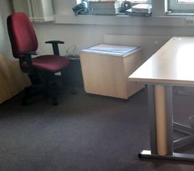 Abbauen, einpacken, umräumen. Das RWS-Büro in Halle wurde verkleinert.