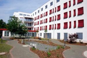 """Das Sozialzentrum """"An den Gärten"""" des Stadtverbands Volkssolidarität Leipzig. Foto: Uwe Schürmann"""