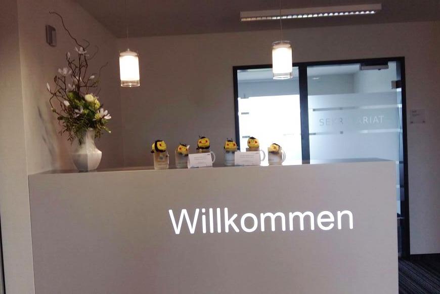 Die RWS heißt die Mitarbeiter der Volkssolidarität herzlichen willkommen in ihren neuen Büroräumen.